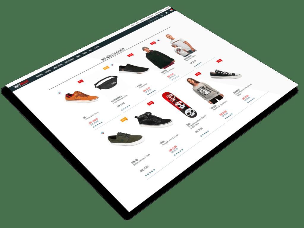 Die Produktseite eines Onlineshops